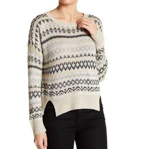 14th & Union Patterned Fair Isle Knit Pullover